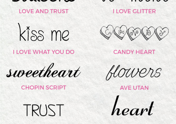 Best Free Valentine's Day Fonts - These sweet and romantic fonts are perfect for your Valentine's Day projects!