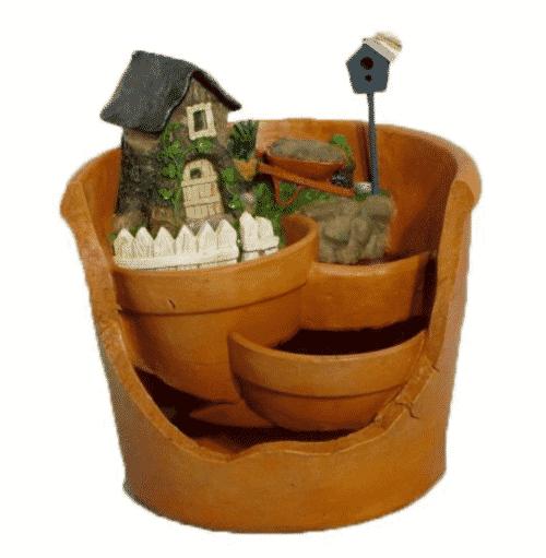 Fairy Garden Broken Pot Planter