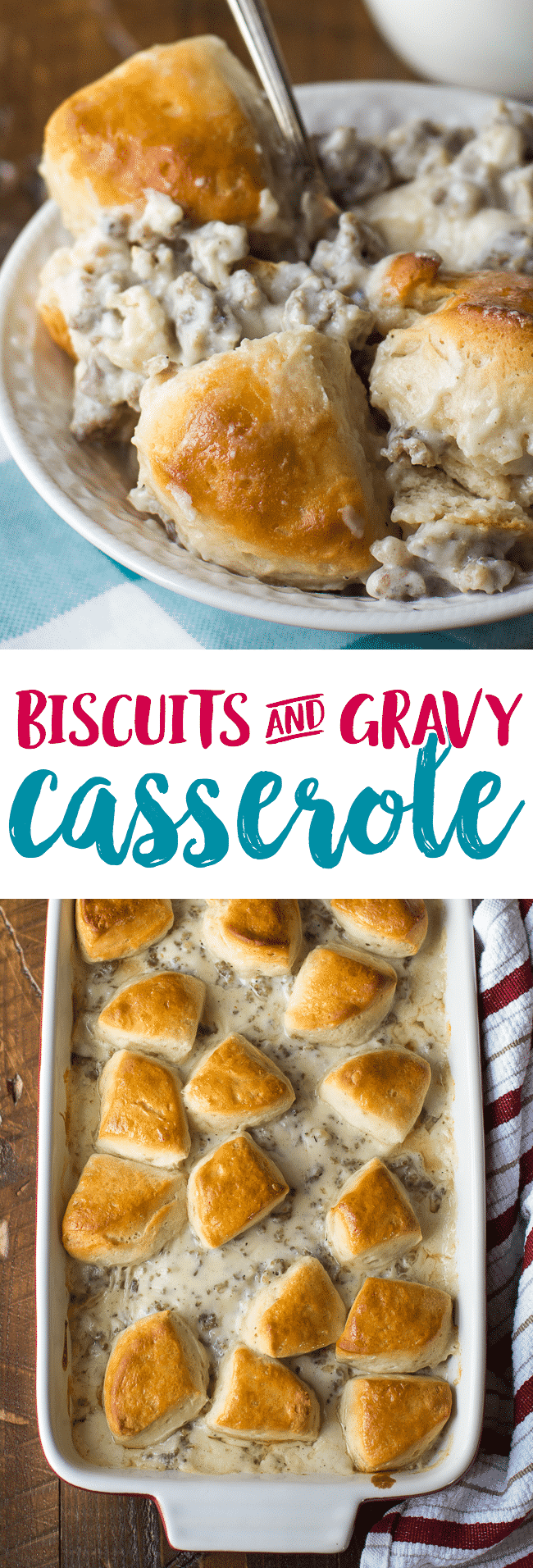 Biscuits and Gravy Casserole Recipe | Sausage Gravy Casserole | Breakfast Casserole | Easy Breakfast Casserole