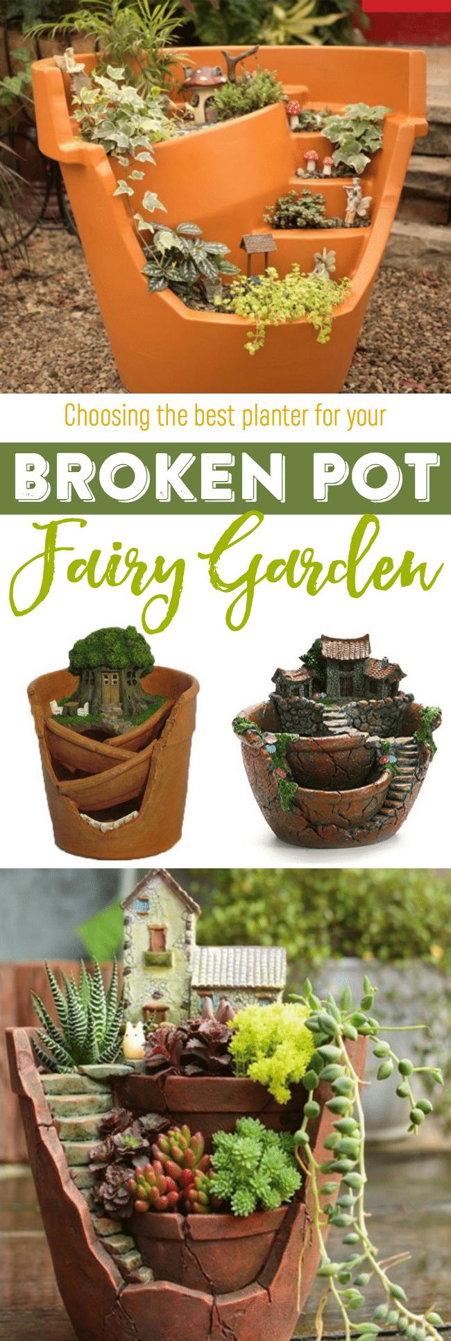 Fairy garden broken pot planters best fairy garden planters best fairy garden broken pot planters fairy gardens gardening planters workwithnaturefo