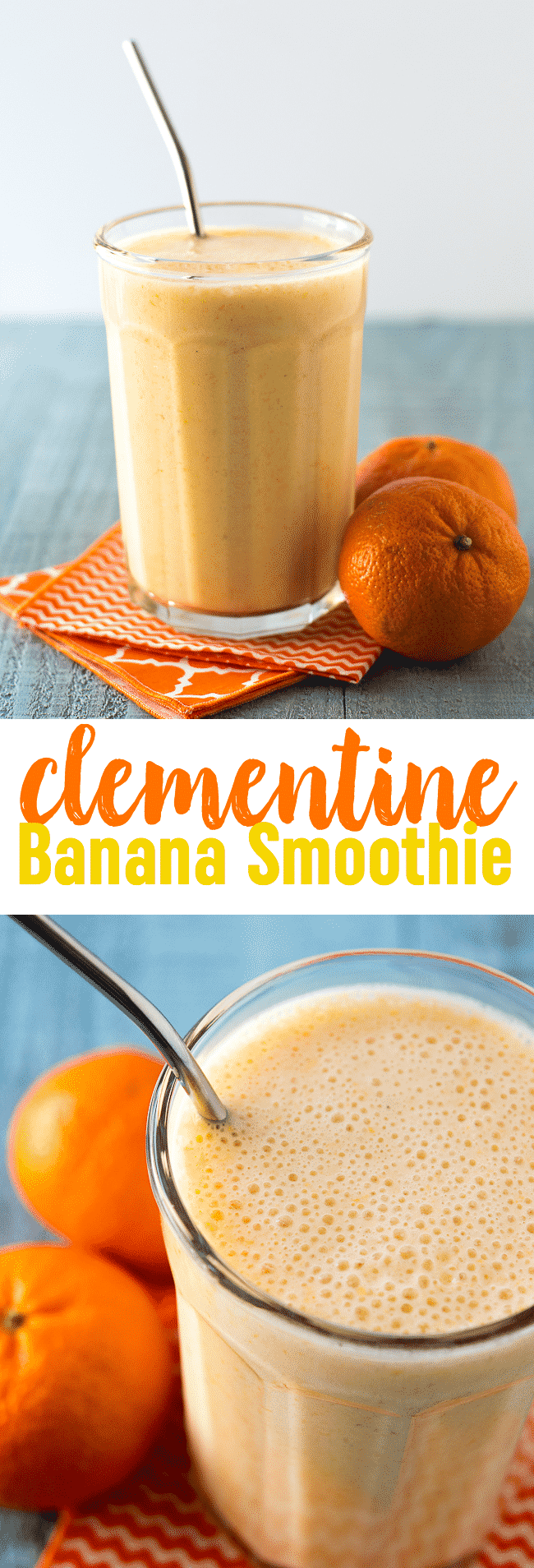 Clementine Banana Smoothie Recipe | Orange Banana Smoothie | Sunshine Smoothie Recipe | Vitamin C Smoothie | Cuties | Mandarin
