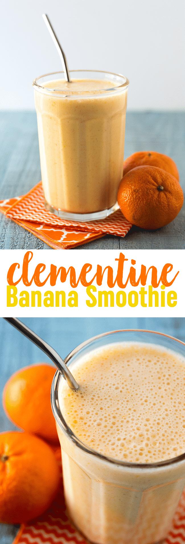 Clementine Banana Smoothie Recipe | Orange Banana Smoothie | Sunshine Smoothie Recipe | Vitamin C Smoothie | Cuties | Mandarin