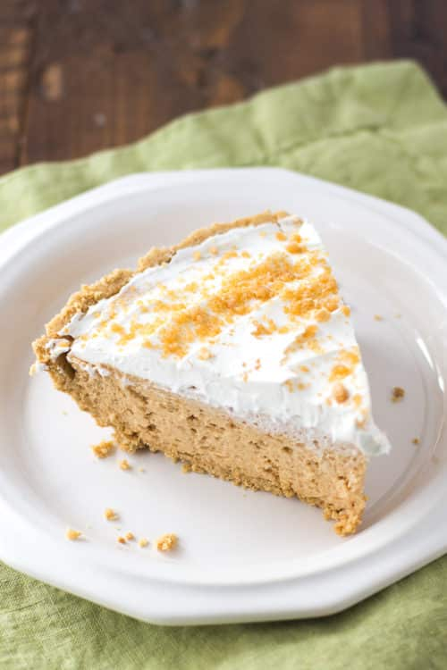 Easy Peanut Butter Pie Recipe - One Pinner said this easy peanut butter pie is the BEST dessert she's ever made!
