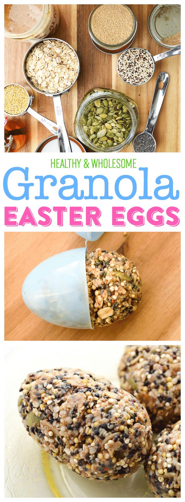 Healthy Granola Easter Eggs   Homemade Granola   Healthy Easter Treats for Kids   Easter Egg Molds