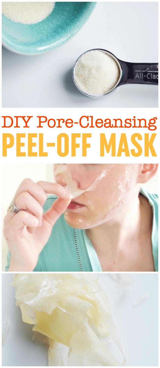 DIY Peel-Off Mask | Blackhead Mask | Gelatin Peel Off Mask | DIY Pore Strips