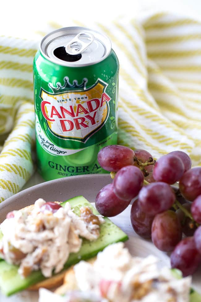 Canada Dry Ginger Ale + Chicken Salad Toast
