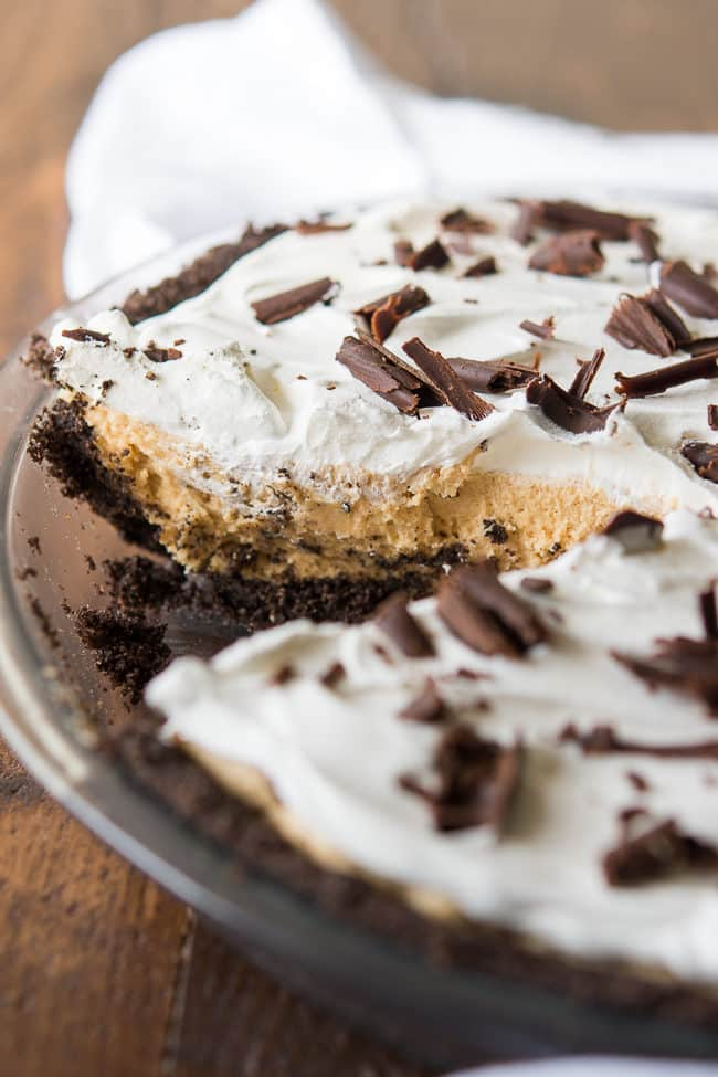 Chocolate Peanut Butter Pie Recipe | Oreo Crust Peanut Butter Pie | Easy Peanut Butter Pie | Oreo Cookie Pie Crust Recipe