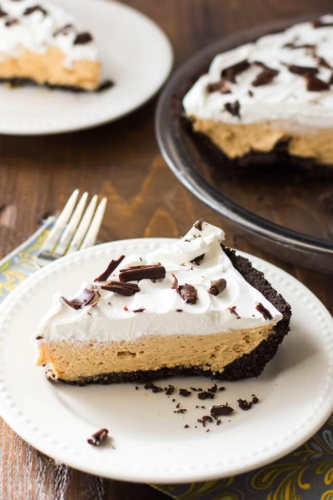 Chocolate Peanut Butter Pie Recipe | Oreo Crust Peanut Butter Pie | Easy Peanut Butter Pie | Oreo Cookie Pie Crust Recipe