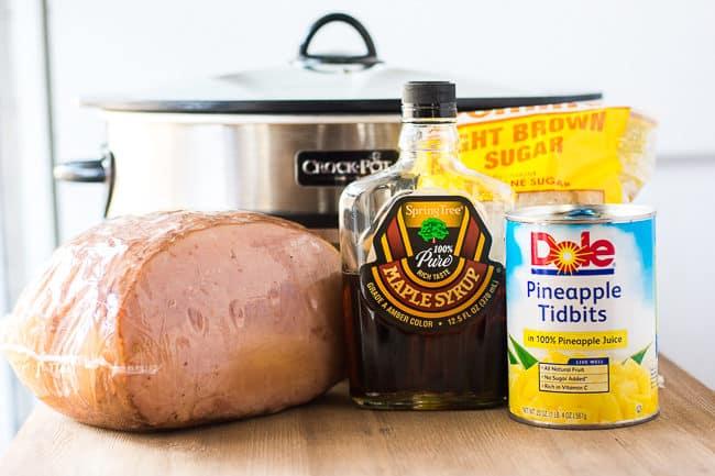 Crock Pot Brown Sugar Pineapple Ham Recipe | Slow Cooker Glazed Ham | Brown Sugar Maple Pineapple Ham | Crock Pot Spiral Cut Ham Recipe