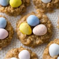 No-Bake Peanut Butter Nest Cookies