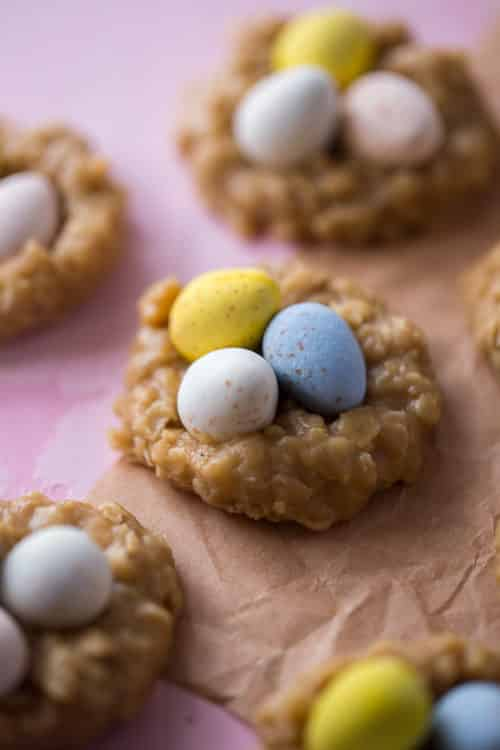 No-bake Peanut Butter Nest Cookies Recipe | No Bake Egg Nest Cookies | Chocolate Egg Nest Cookies | Easy Easter Nest Cookies