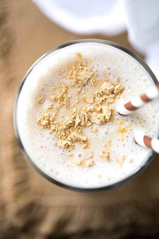 Peanut Butter Smoothie Recipe | PB2 Smoothie | Peanut Butter Banana Smoothie Recipe | Easy Smoothie | Vanilla Yogurt Smoothie