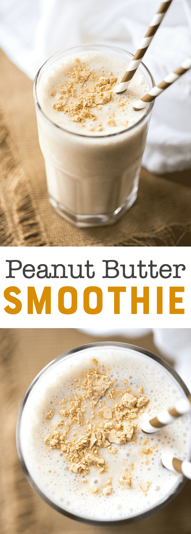Peanut Butter Smoothie Recipe | PB2 Smoothie | Peanut Butter Banana Smoothie Recipe | Easy Smoothie | Vanilla Yogurt Smoothie
