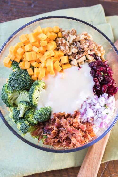 Broccoli Salad with Bacon and Cheddar Recipe | Best Broccoli Salad | Broccoli Salad with Dried Cranberries | Broccoli Salad with Walnuts | Easy Broccoli Salad