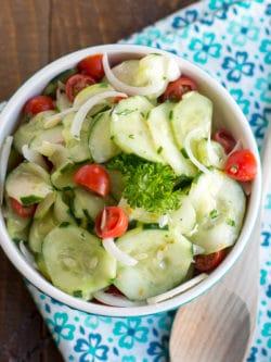 Cucumber Tomato Salad Recipe   Cucumber Tomato Onion Salad   Summer Salad Recipe   Easy Cucumber Salad