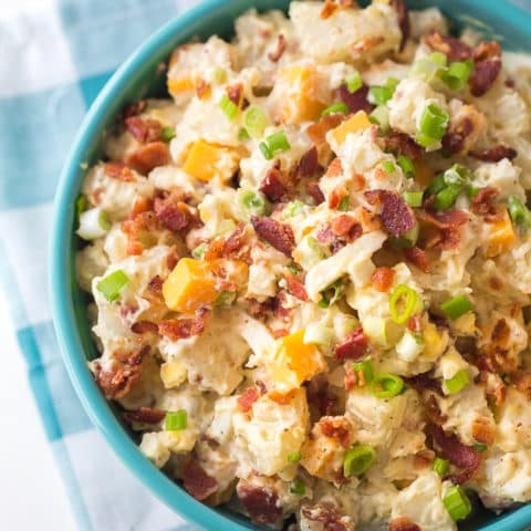 Loaded Potato Salad Recipe | Loaded Ranch Potato Salad | Bacon Potato Salad | Potato Salad with Cheese