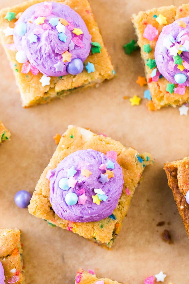 Unicorn Bars (Unicorn Poop Bars) - These bright and fun cookie bars are easy to make and oh-so magical!