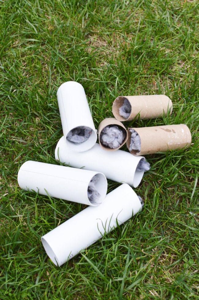 DIY Tick Tubes - How to make tick tubes to help reduce the tick population to keep your family safe this summer!