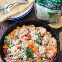 Easy One Pan Shrimp & Rice Dinner