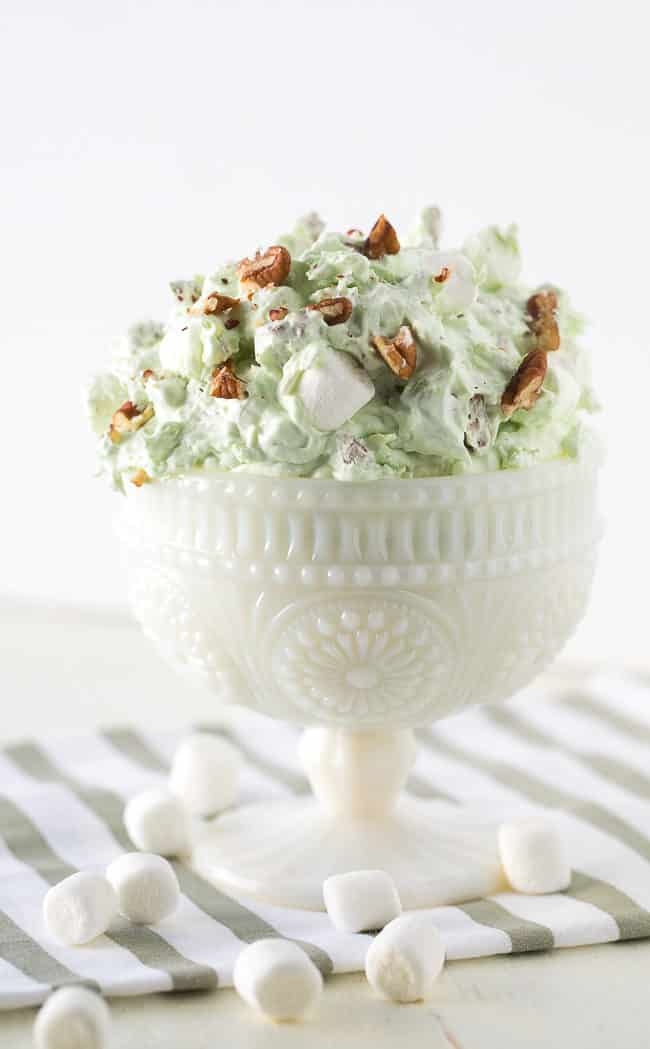 Pistachio Fluff Salad - You may call it pistachio delight, watergate salad or something else, but regardless the name it's such an easy and delicious dessert!