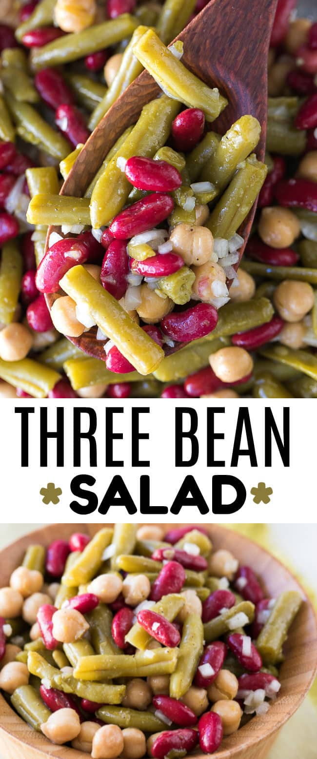 Three Bean Salad with Dressing