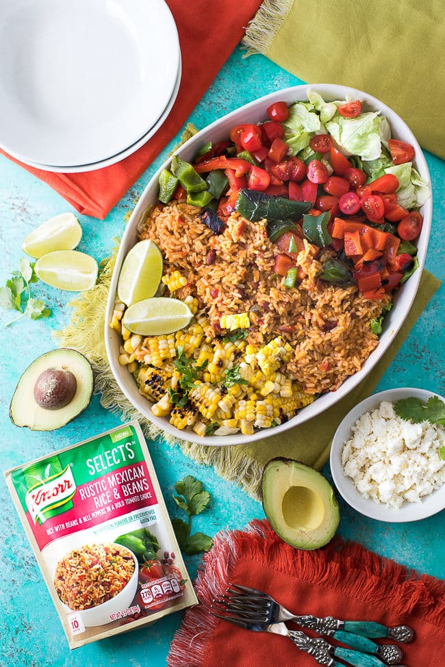 Veggie Burrito Bowls - These easy vegetarian burrito bowls are a delicious dinner option.