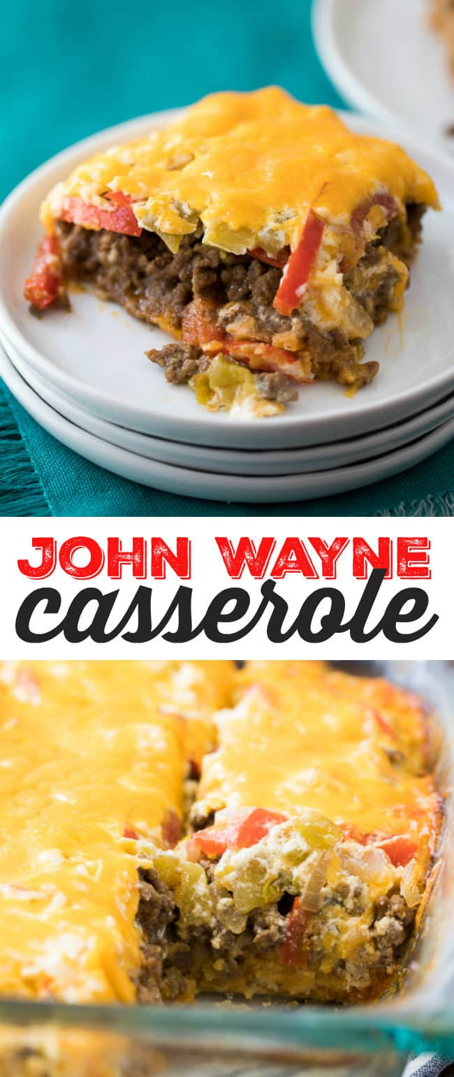 John Wayne Casserole Recipe - This meaty, cheesy casserole is a hearty family meal solution!