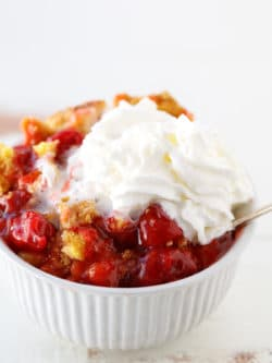 This easy cherry dump cake recipe is the perfect delicious dessert.