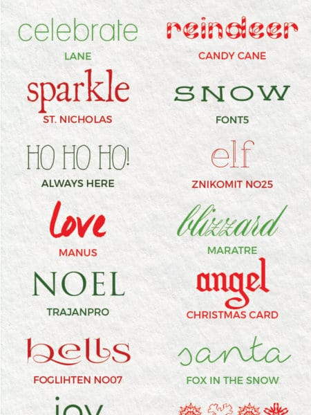 Christmas Fonts.Best Free Christmas Fonts Festive Free Holiday Fonts