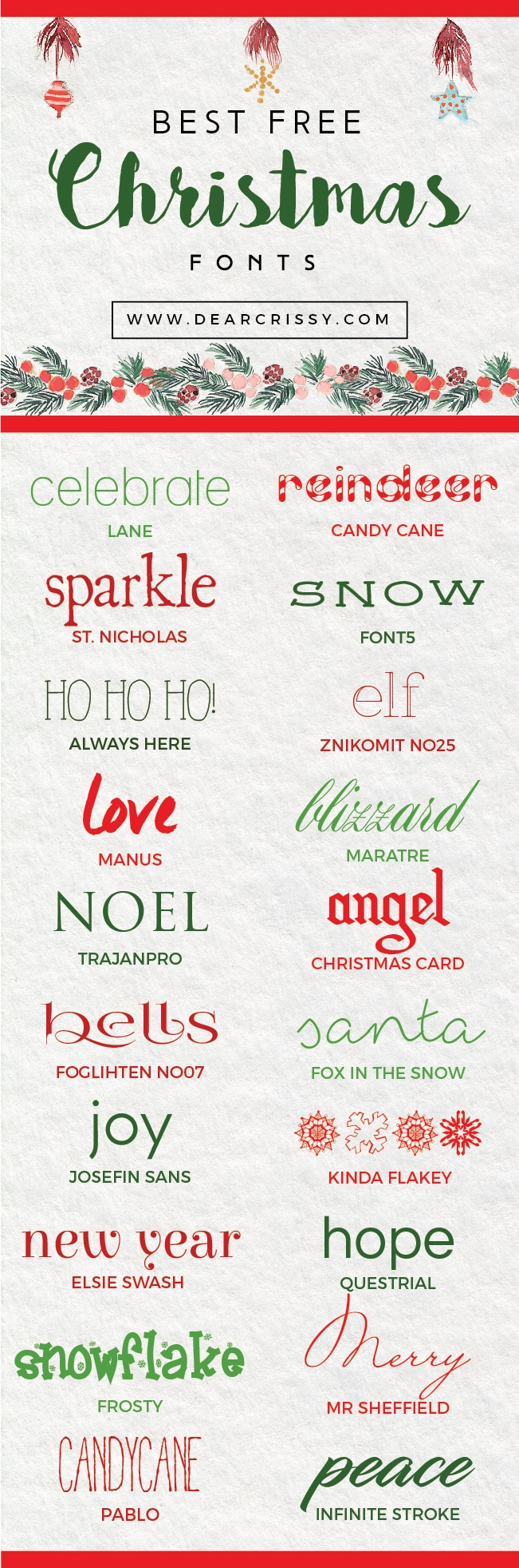 Best Christmas Fonts.Best Free Christmas Fonts Festive Free Holiday Fonts