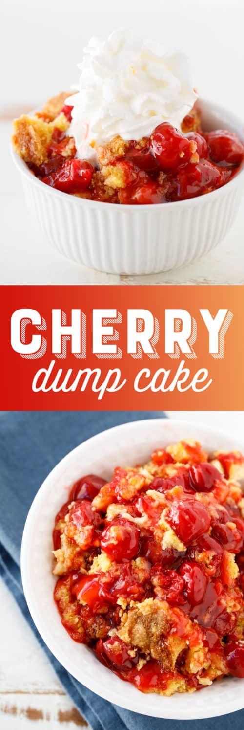 This scrumptious cherry dump cake recipe is so easy to make. Loving this recipe!