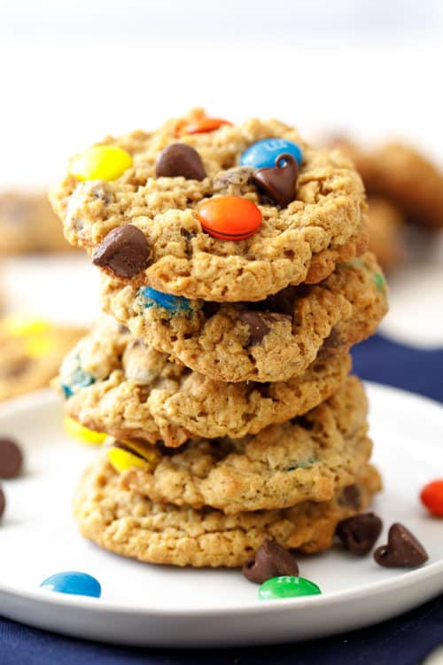 Easy Monster Cookies - this is everyone's favorite chewy, chocolate-filled cookie!