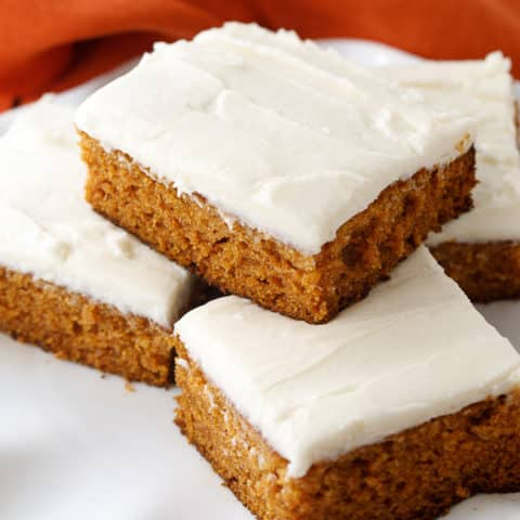 Just made this pumpkin spice cake with cream cheese frosting and it was SO GOOD. Will make again.