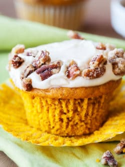Spiced Pumpkin Cupcakes - Make these easy pumpkin cupcakes with a cake mix and a little pumpkin magic!