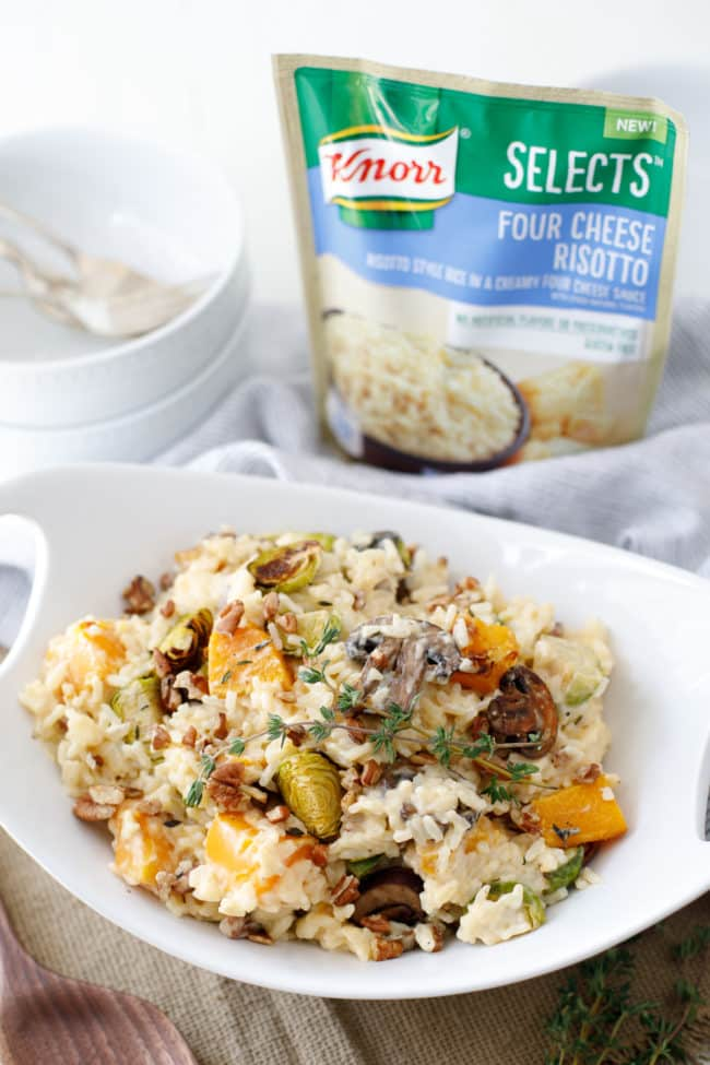 Harvest Vegetable Risotto with Toasted Pecans - This was incredibly yummy and simple to prepare even on busy nights.