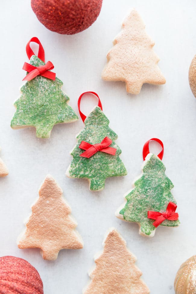 DIY Salt Dough Christmas Tree Ornament - easy and cute holiday ornaments -  great for kids - DIY Salt Dough Christmas Tree Ornaments - Easy Salt Dough Ornament