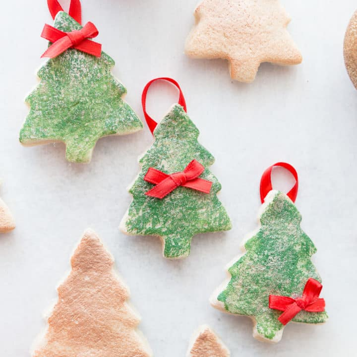 DIY Salt Dough Christmas Tree Ornaments