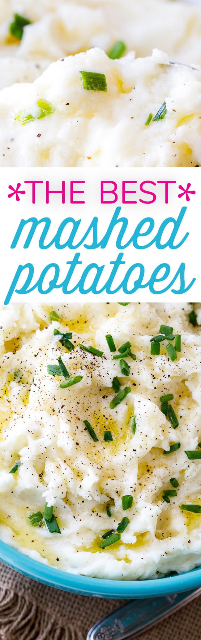 The Best Mashed Potatoes Recipe - These mashed potatoes are simple, creamy and quite frankly, the best!