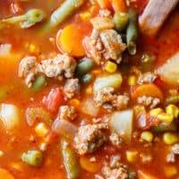 Ground Turkey Vegetable Soup