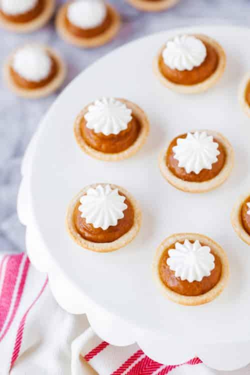 Mini Pumpkin Pies Recipe - These miniature pumpkin pies are easy to make and taste amazing!