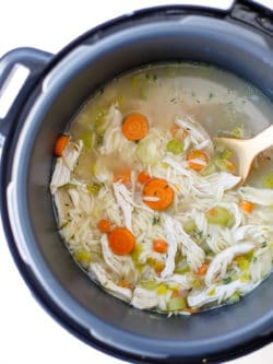 Pressure Cooker Chicken Orzo Soup Recipe - This easy and delicious chicken orzo soup is a wonderfully healing and comforting family dinner.