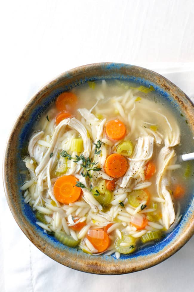 Pressure Cooker Chicken Orzo Soup Recipe - This easy and delicious chicken orzo soup is a wonderfully healing and comforting family dinner. #PressureCooker #CrockPot #ChickenOrzoSoup #PressureCooker #CrockPot #ChickenOrzoSoup