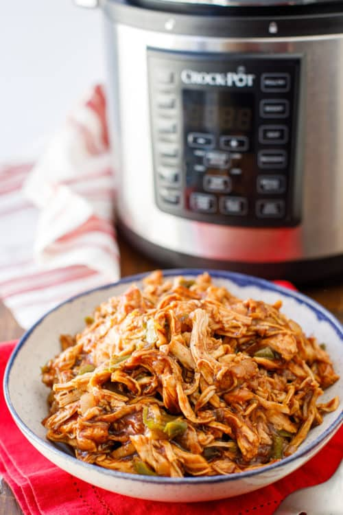 Pressure Cooker Pulled Chicken Recipe - Pulled Chicken Breast - BBQ Pulled Chicken - #PressureCooker #EasyMeals #EasyDinner #PulledChicken #BBQ