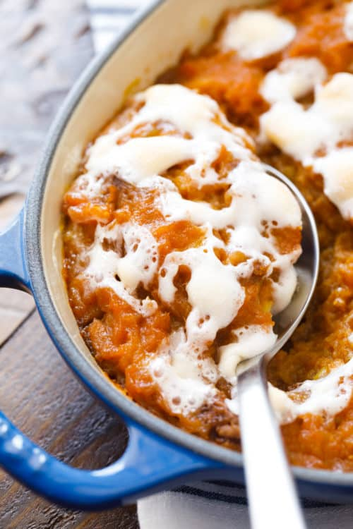 Holiday Yam Bake - Sweet Potato Casserole with Marshmallows - #SweetPotatoCasserole #YamBake #Yams