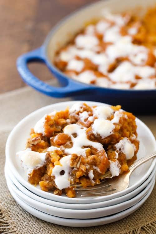 Holiday Yam Bake - Sweet Potato Casserole - Marshmallows - #SweetPotatoCasserole #YamBake #Yams