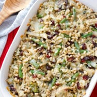Turkey, Rice and Cranberry Casserole