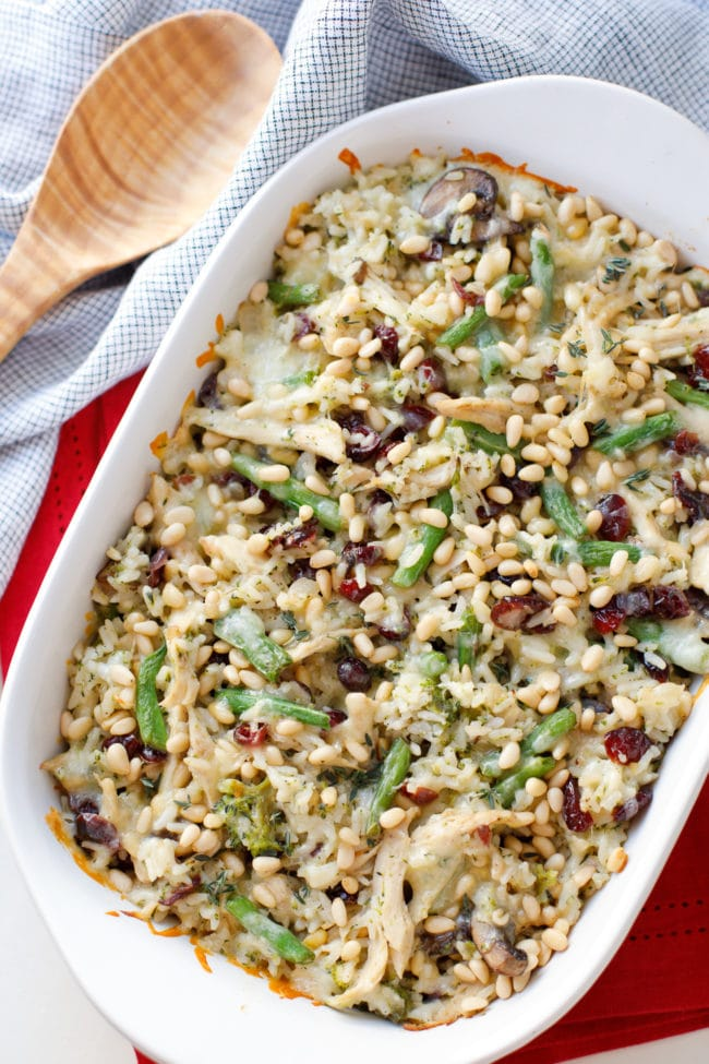Turkey, Rice and Cranberry Casserole - Holiday Leftovers Casserole - Turkey Leftovers - Dried Cranberries #Casserole #Holiday #Christmas #Thanksgiving