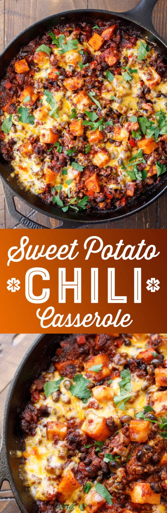 Sweet Potato Chili Casserole Recipe - Easy Skillet Chili - Sweet Potato Chili with Ground Beef #casserole #chili