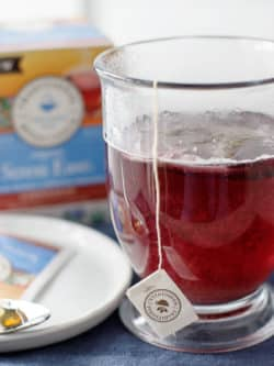 Stress Ease Tea with Blueberries and Honey