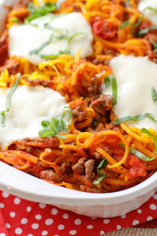 Butternut Squash Spiral Spaghetti